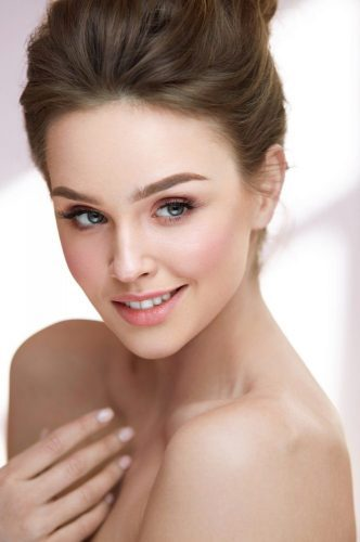 Beauty Woman Face. Beautiful Sexy Female With Makeup, Hairstyle