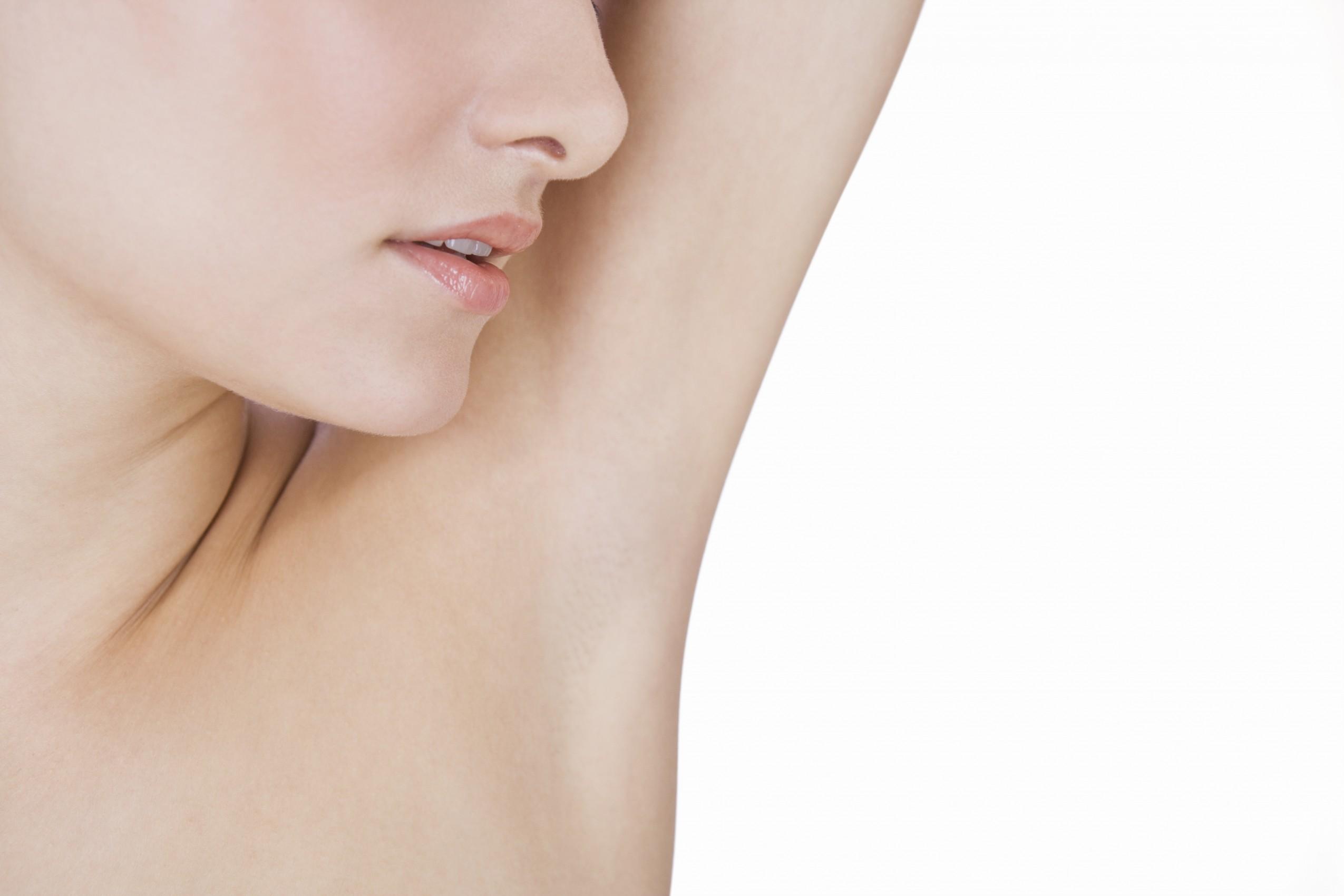 Young woman's armpit, close-up